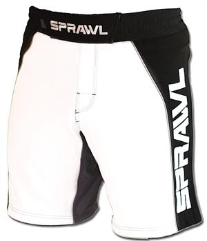 Fusion II Stretch Series White/Black Shorts